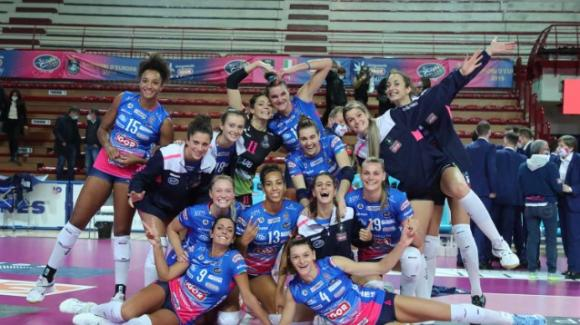 Volley femminile serie A1: Novara vince 3-0 contro Bergamo