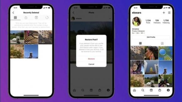 """Instagram: in rilascio """"cestino"""" per recuperare i contenuti eliminati, in test le FAQ"""