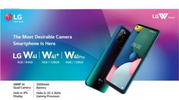 LG ufficializza i medio-gamma W41, W41+ e W41 Pro
