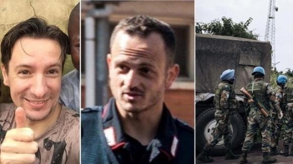 Le salme dell'ambasciatore Luca Attanasio e del carabiniere Vittorio Iacovacci tornano in Italia