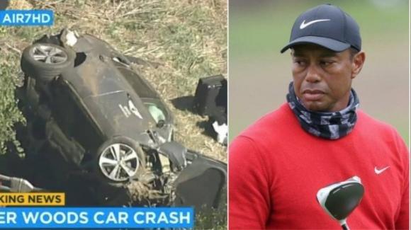 Paura per Tiger Woods: la star del golf coinvolta in un grave incidente