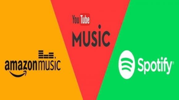 Novità per lo streaming musicale di Spotify, YouTube Music ed Amazon Music