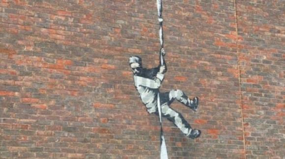 E' Oscar Wilde, il carcerato nel murale di Banksy