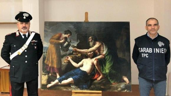 Ritrovato il dipinto seicentesco di Nicolas Poussin