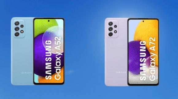 Galaxy A52 (4 e 5G) e Galaxy A72 ufficializzati da Samsung