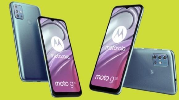 Moto G20: ufficiale il low cost con quadcamera e maxi batteria