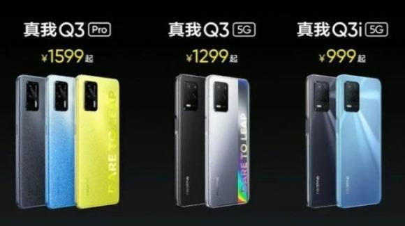 Realme Q3, Realme Q3 Pro, Realme Q3i: ufficiali i nuovi medio-gamma con 5G