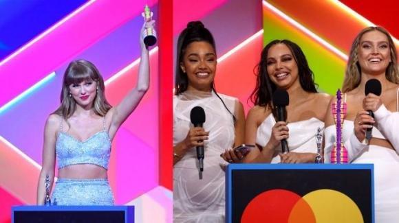 Brit Awards 2021, Taylor Swift e le Little Mix fanno la storia