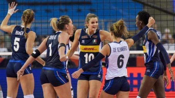 Nations League volley femminile: la Polonia batte l'Italia 3-2