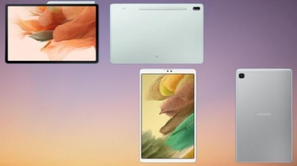Finalmente, ecco i nuovi tablet Galaxy Tab S7 FE e Galaxy Tab A7 Lite di Samsung