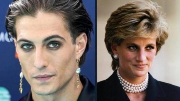 Damiano dei Maneskin e Lady D: per gli internauti la somiglianza è straordinaria