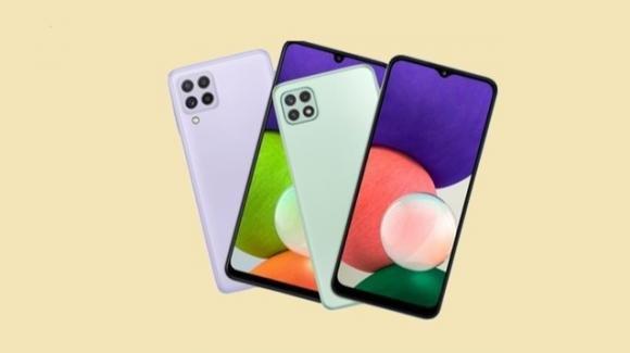 Samsung Galaxy A22 e A22 5G: anticipati i nuovi medio-gamma con e senza 5G