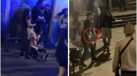 Colonne di San Lorenzo, Milano: giovane minaccia i rivali con un machete