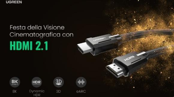 UGREEN: ecco i nuovi cavi HDMI 2.1 con risoluzione 8K per PS4, PS5, PC, Xbox, proiettore e laptop