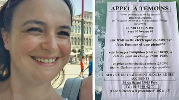 """Parigi, travolta da un monopattino. La gendarmeria lancia un appello: """"Aiutateci a identificarle"""""""