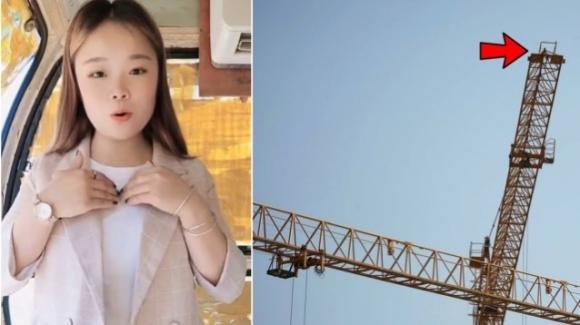Cina, influencer muore precipitando da una gru alta 43 metri: morta sul colpo