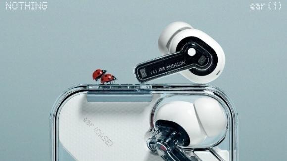 Nothing ear (1): ufficiali gli auricolari true wireless con ANC di Carl Pei
