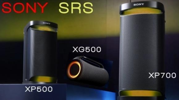 In commercio gli speaker wireless per party XP700, XP500 e XG500 di Sony