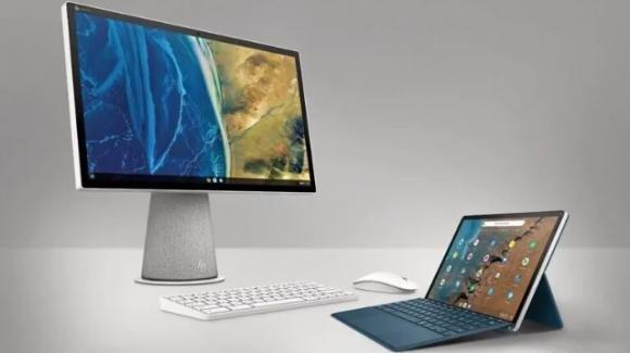 Da HP un tablet convertibile e un computer all-in-one a base Chrome OS