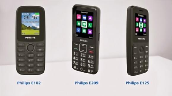 Philips all'assalto dei feature phone con un terzetto di device