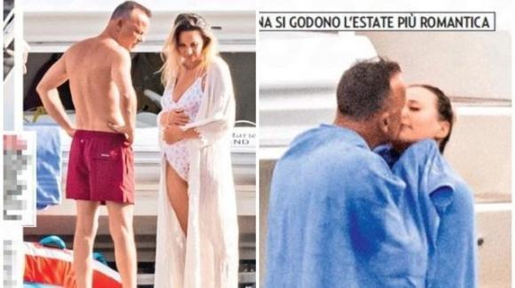 Gigi D'Alessio e Denise: sullo yacht in costiera, lei sfoggia il pancione e il pensiero della Tatangelo
