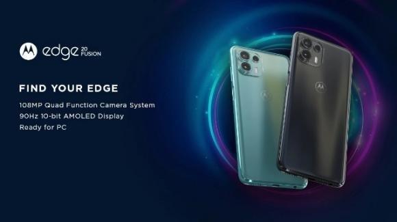 Da Lenovo il medio-gamma Moto Edge 20 Fusion con Dimensity 800U