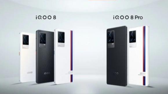 Da iQOO i top gamma iQOO 8 e iQOO 8 Pro con sensore telescopico e carica a 120W