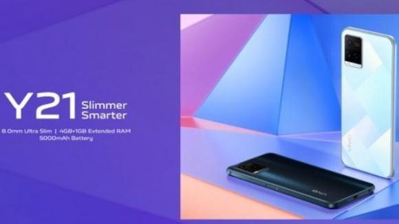 Vivo Y21: ufficiale il nuovo budget phone di BBK con Android 11 ed Helio P35
