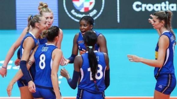 Volley femminile, Europei: l'Italia vince 3-0 contro la Bielorussia