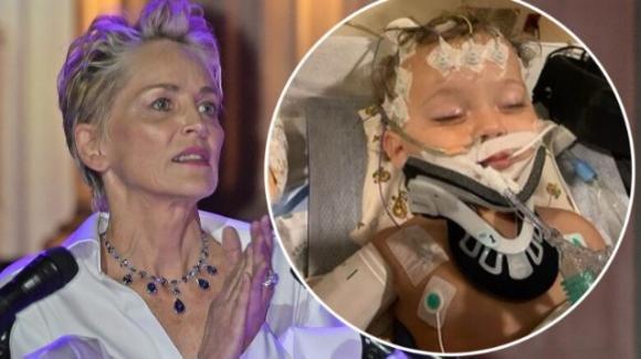 """Dramma per Sharon Stone, il nipote di 11 mesi grave in ospedale: """"Pregate per lui"""""""