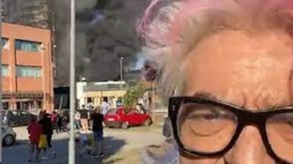 """Morgan, casa di fronte incendio a Milano: """"Sentivo le fiamme addosso"""""""