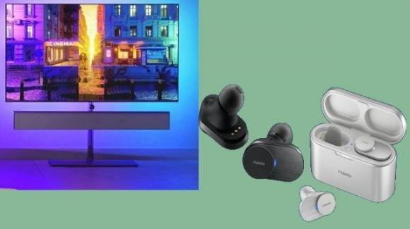 Philips annuncia le nuove smart TV OLED+ e gli auricolari tws Fidelio T1