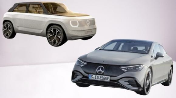 A IAA 2021 le ecologiche tedesche Volkswagen ID.Life e Mercedes-AMG EQS 53 4MATIC+