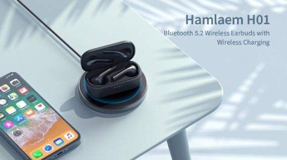 Hamlaem H01: auricolari in-ear con Bluetooth 5.2 e microfono incorporato