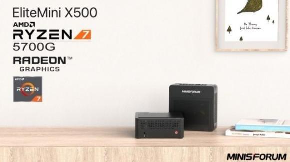 EliteMini X500-5700G: in pre-ordine il nuovo miniPC di Minisforum
