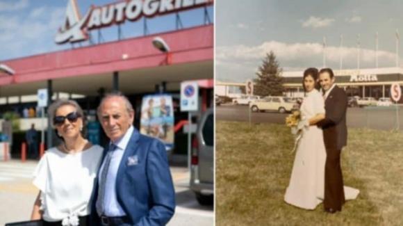Nozze d'oro in autogrill: festeggiano i loro 50 anni di matrimonio nel luogo dove si sono sposati