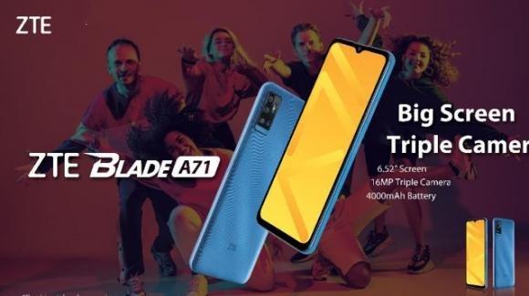 ZTE Blade A71: ufficiale lo smartphone low cost con Android 11 e modulo NFC