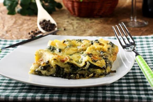 Lasagne con pesto, ricotta e spinaci