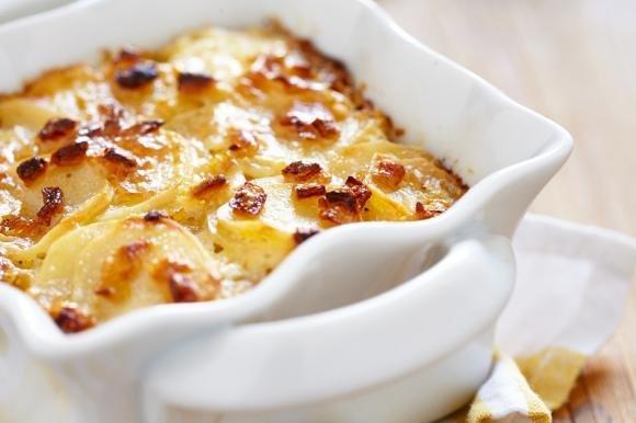 Patate al forno con pancetta