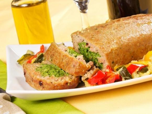 Polpettone spinaci e mozzarella