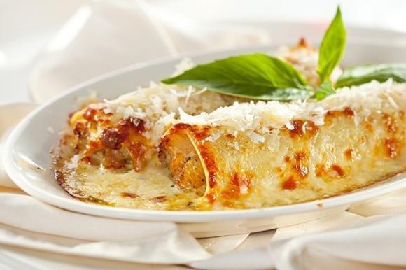 Cannelloni con tofu e spinaci