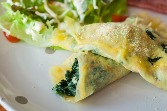 Crepes ricotta e spinaci light