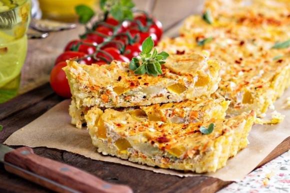 Torta salata zucchine e tofu