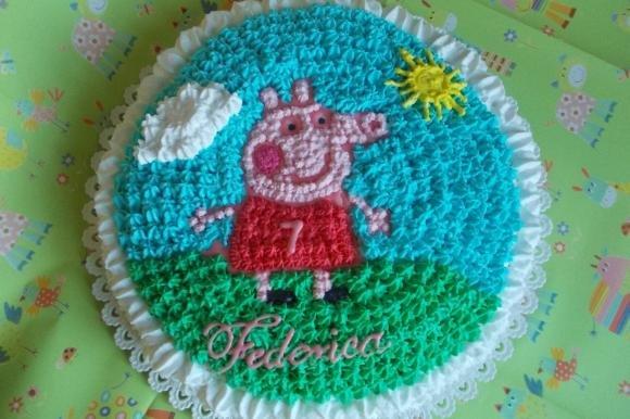 Torta di compleanno di Peppa Pig