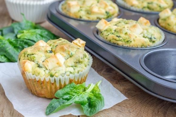 Muffin salati spinaci e tofu
