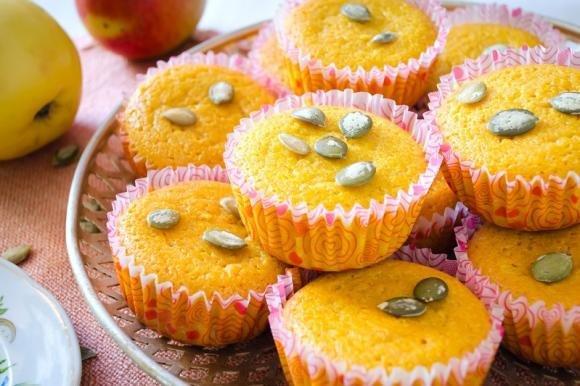 Muffin alla zucca vegan