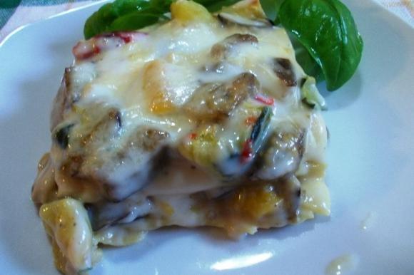 Lasagne con verdure grigliate