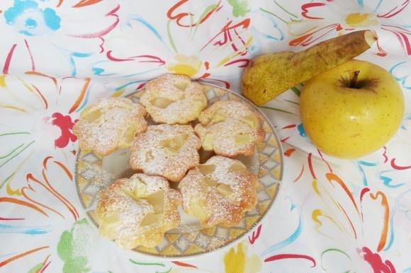 Muffin con pere e mele