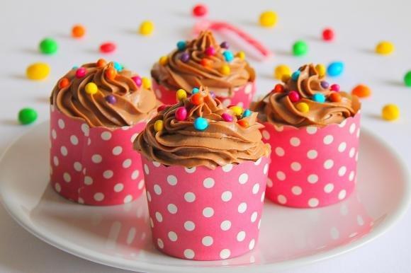 Cupcake con frosting alla crema di nocciole e Philadelphia
