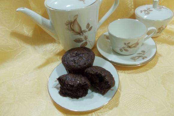 Muffin di budino al cioccolato